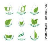 set of nature leaf   droplet...   Shutterstock .eps vector #1064080739