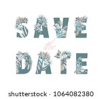 lettering inscription save the... | Shutterstock . vector #1064082380