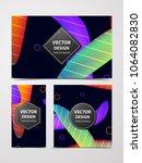 abstract design template fluid... | Shutterstock .eps vector #1064082830
