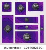 paper cut banners  flyers ... | Shutterstock .eps vector #1064082890