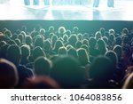 theater audience watching a...   Shutterstock . vector #1064083856