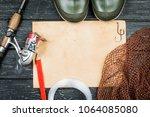 fishing gear   fishing  fishing ... | Shutterstock . vector #1064085080