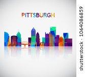 Pittsburgh Skyline Silhouette...