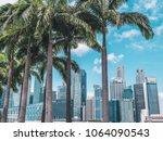 singapore   april 2  2018  palm ... | Shutterstock . vector #1064090543