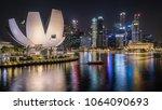 singapore   march  2018  night... | Shutterstock . vector #1064090693