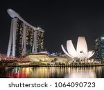 singapore   march  2018  marina ... | Shutterstock . vector #1064090723
