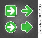 4 Green Sticker Arrow Sign Web...