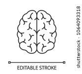 human brain linear icon. thin... | Shutterstock .eps vector #1064093318