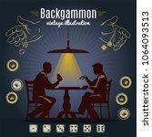 Backgammon Vintage Style Desig...