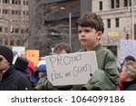 dayton  ohio   march 24  young... | Shutterstock . vector #1064099186