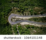 aerial view from drone of curve ...   Shutterstock . vector #1064101148