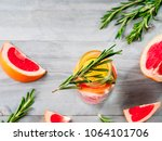 infused detox water with... | Shutterstock . vector #1064101706