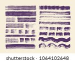 painting brushes set. vector... | Shutterstock .eps vector #1064102648