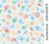 seamless pattern from outline...   Shutterstock .eps vector #1064102879
