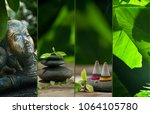 spa theme collage composed of... | Shutterstock . vector #1064105780