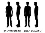 vector silhouettes men ... | Shutterstock .eps vector #1064106350
