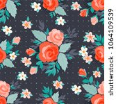 amazing seamless floral pattern ... | Shutterstock .eps vector #1064109539