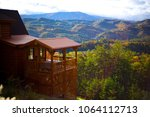 Blue ridge mountain cabin view...