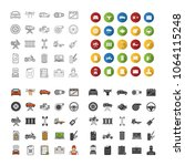 auto workshop icons set. car... | Shutterstock .eps vector #1064115248