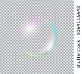 realistic soap bubble with... | Shutterstock .eps vector #1064116643