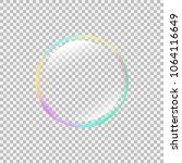 realistic soap bubble with... | Shutterstock .eps vector #1064116649