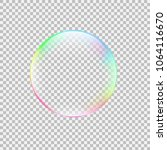 realistic soap bubble with... | Shutterstock .eps vector #1064116670