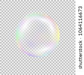 realistic soap bubble with... | Shutterstock .eps vector #1064116673