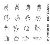 vector image set of hands in...   Shutterstock .eps vector #1064132003