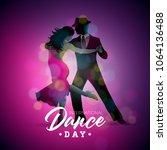 international dance day vector... | Shutterstock .eps vector #1064136488