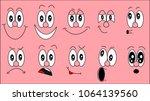 a set of emoji  a set of... | Shutterstock .eps vector #1064139560