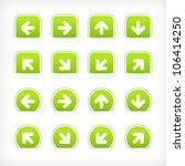 green sign arrow sticker on cut ... | Shutterstock .eps vector #106414250