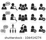 black social symbol people... | Shutterstock .eps vector #106414274