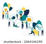 vector infographic illustration ... | Shutterstock .eps vector #1064146190