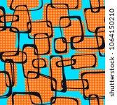 vector seamless pop art 1960s... | Shutterstock . vector #1064150210