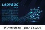 ladybug of particles. ladybug... | Shutterstock .eps vector #1064151206