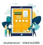 vector business illustration ...   Shutterstock .eps vector #1064162480