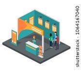 isometric 3d illustration expo...   Shutterstock . vector #1064167040