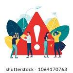 business concept vector... | Shutterstock .eps vector #1064170763