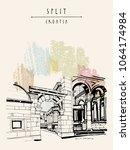 split  croatia palace of... | Shutterstock .eps vector #1064174984