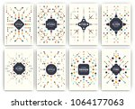 set of geometric abstract...   Shutterstock .eps vector #1064177063