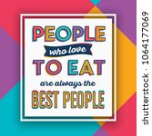 colorful quote   people who... | Shutterstock .eps vector #1064177069