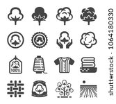 cotton icon set | Shutterstock .eps vector #1064180330