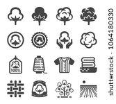 cotton icon set | Shutterstock .eps vector #1064180330