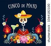 cinco de mayo greeting card ... | Shutterstock .eps vector #1064182100