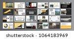 original presentation templates ... | Shutterstock .eps vector #1064183969