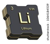 lithium element symbol from... | Shutterstock . vector #1064184539
