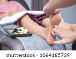 spa and thai foot massage ... | Shutterstock . vector #1064185739