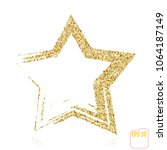golden christmas star isolated... | Shutterstock .eps vector #1064187149