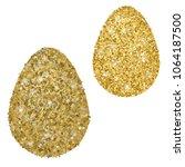 perfect gold handmade easter... | Shutterstock .eps vector #1064187500