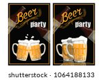beer glass. festival beer logo... | Shutterstock .eps vector #1064188133